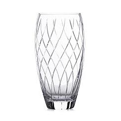 Debenhams - Large cut glass vase