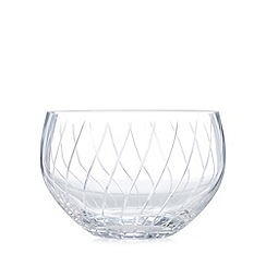 Debenhams - Glass swirl bowl