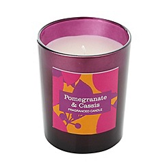 Debenhams - Purple pomegranate and cassis scented votive candle