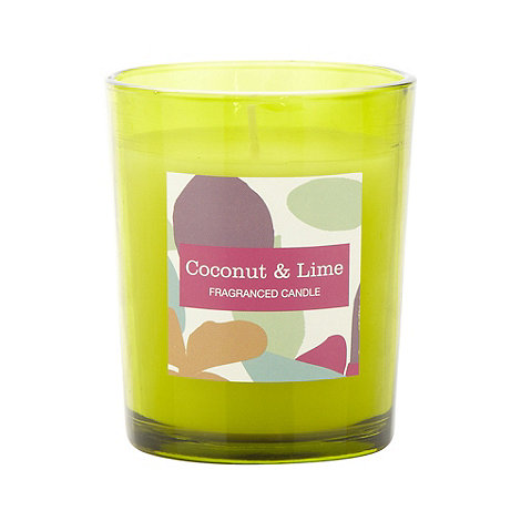 Debenhams - Green coconut and lime scented votive candle
