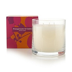 Debenhams - Pomegranate and cassis scented candle