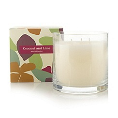 Debenhams - Coconut and lime scented candle