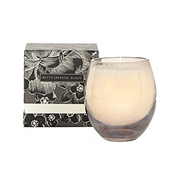 Betty Jackson.Black - Designer metallic cedar wood scented glass votive candle