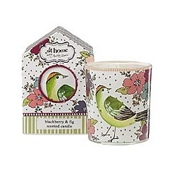 At home with Ashley Thomas - Plum floral printed blackberry and fig scented candle