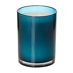 J by Jasper Conran - Designer blue etched scented candle