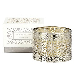 RJR.John Rocha - Silver cut out fig scented votive candle