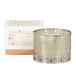 RJR.John Rocha - Designer silver cutout lily scented votive candle
