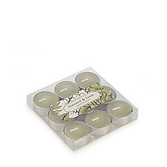 Debenhams - Pack of nine coconut and lime scented tealight candles