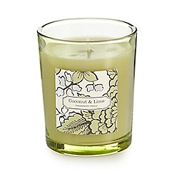 Debenhams - Coconut and lime scented votive candle