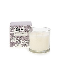 Debenhams - Pomegranate and cassis scented large votive candle in box