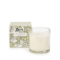 Debenhams - Coconut and lime scented large votive candle in box