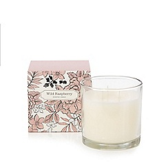 Debenhams - Wild raspberry scented large votive candle in box