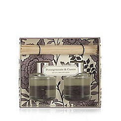 Debenhams - Set of two pomegranate and cassis scented diffusers