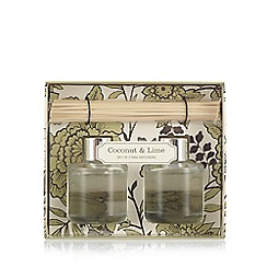 Debenhams - Set of two coconut and lime scented diffusers
