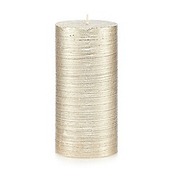 Debenhams - Gold glitter candle