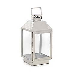 Home Collection - Silver hammered metal lantern