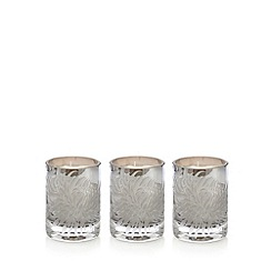 Betty Jackson.Black - Set of three designer agapanthus scented votive candles