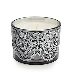 Star by Julien Macdonald - Set of three vanilla scented black glitter lace votive candles