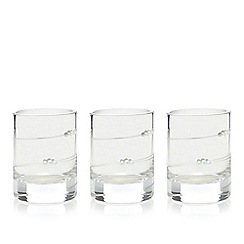 Star by Julien Macdonald - Set of three designer silver champagne scented votive candles