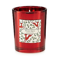 Debenhams - Red 'winter spice' scented votive candle
