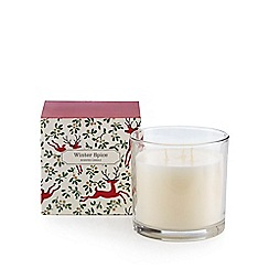 Debenhams - Large 'winter spice' scented votive candle