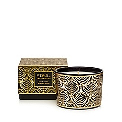 Star by Julien Macdonald - Gold black vanilla scented votive candle