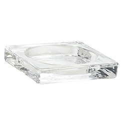 Debenhams - Glass square candle plate