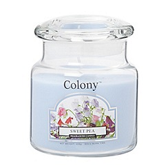 Wax Lyrical - Pale blue 'Sweet pea' scented jar candle