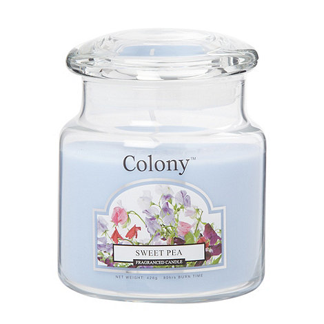 Wax Lyrical - Pale blue +Sweet pea+ scented jar candle