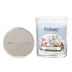 Wax Lyrical - Pale blue 'Sweet pea' scented small jar candle