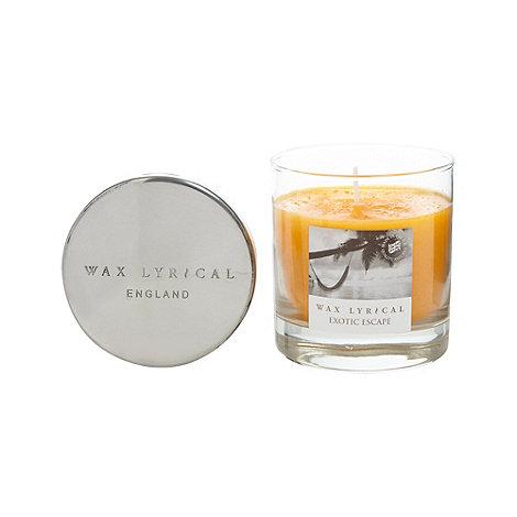 Wax Lyrical - Medium +Exotic Escape+ fragranced candle jar