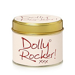 Lily Flame - Pale pink Dolly Rocker scented candle tin