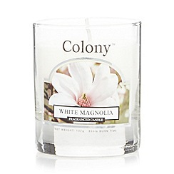 Colony - White Magnolia scented candle jar