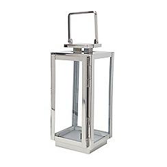 Debenhams - Small silver lantern