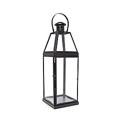 Debenhams - Black glass lantern