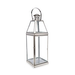 Debenhams - Silver glass lantern