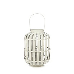 Debenhams - Light grey small wicker lantern