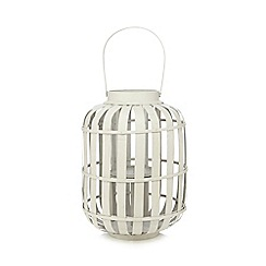 Debenhams - Light grey large wicker lantern
