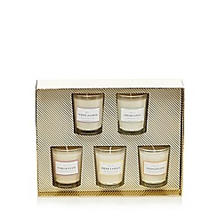 Home Collection - Set of five mini votive candles gift set