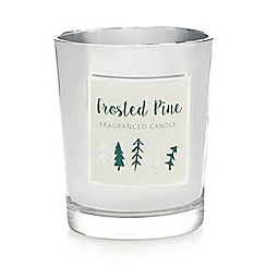 Debenhams - Frosted pine scented candle