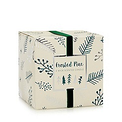 Debenhams - Frosted pine scented three wick candle