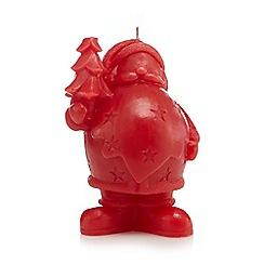 Debenhams - Red Santa candle