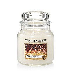 Yankee Candle - Classic 'All is Bright' medium jar candle