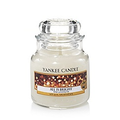 Yankee Candle - Classic 'All is Bright' small jar candle
