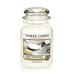 Yankee Candle - Large 'Baby Powder' scented jar candle