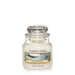 Yankee Candle - Small 'Baby Powder' scented jar candle