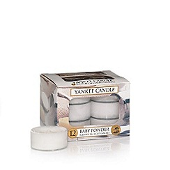 Yankee Candle - Pack of 12 'Baby Powder' scented tea light candles