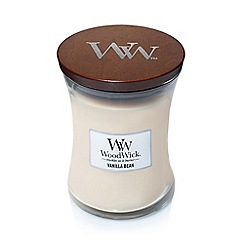 WoodWick - Medium 'Vanilla Bean' scented jar candle