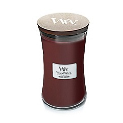 WoodWick - Large 'Black Cherry' scented jar candle
