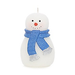 Home Collection - White snowman candle